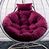 GOPG Hanging Egg Chair Hanging Basket Seat Cushion, Detachable Soft Hanging Mat Cushion Chair Cushion Swing Mat Back Cushion Suitable for Indoor/Outdoor-Purple