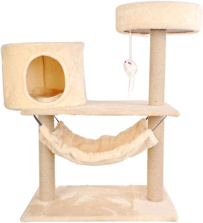 Hexiansheng Cat Climb Trees Cat Pillar cat nest cat Tree Hole nest cat Toy Climb Frame sisal Cat Scratch Board cat Platform House 68  38  84cm