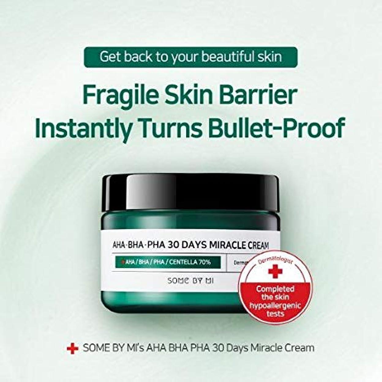 つぶす石の飲料Somebymi AHA BHA PHA Miracle Cream 50ml (1.7oz) Skin Barrier & Recovery, Soothing with Tea Tree 10,000ppm for Wrinkle & Whitening/Korea Cosmetics [並行輸入品]