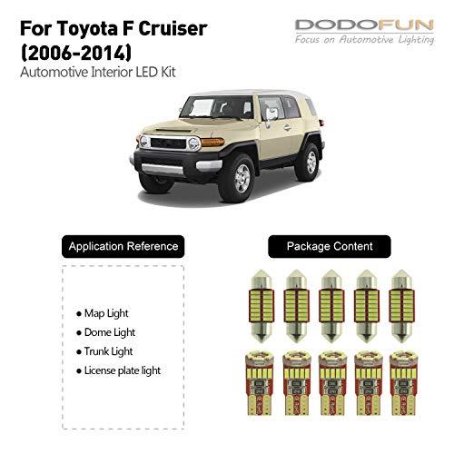 DODOFUN Deluxe Interior LED Light Compatible with 2006-2014 Toyota FJ cruiser ( 10-pc Bulb 6000k )