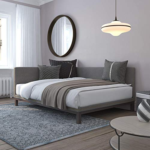 DHP Dale Upholstered Queen, Gray Linen Daybed,