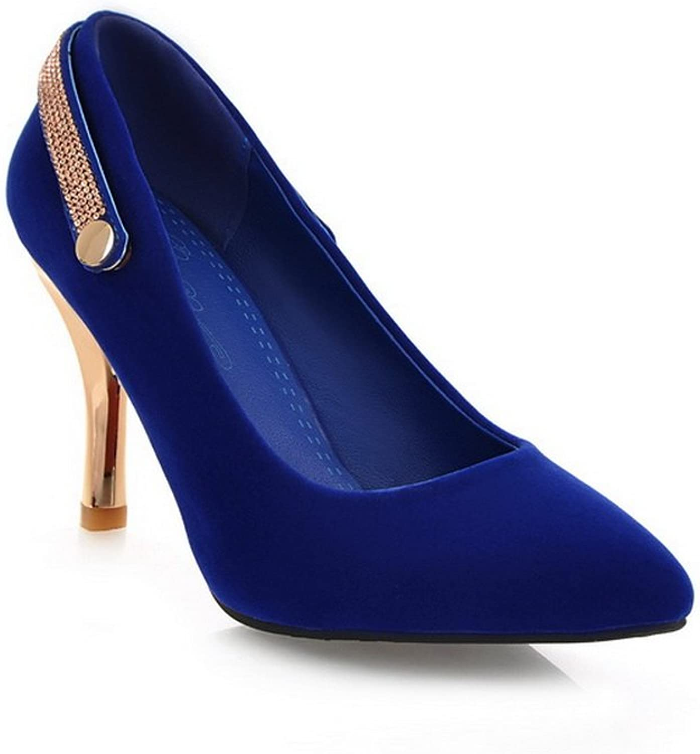 BalaMasa Womens High-Heels Slip-Resistant Pointed-Toe Frosted Pumps-shoes