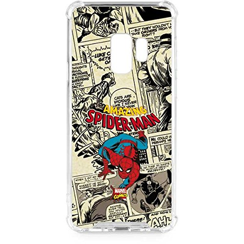 Skinit Clear Phone Case Compatible with Galaxy S9 - Officially Licensed Marvel/Disney Amazing Spider-Man Comic Design