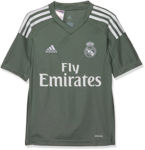 adidas Kinder Real Madrid Torwart Heimtrikot Real Madrid Torwart-Heimtrikot Replica, Tragrn/White, 164, B31102