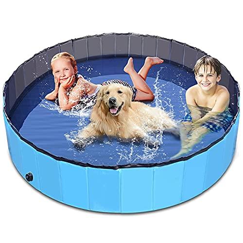 ALLWIN Piscinas Plegables para Perros Piscina para Perros Y Mascotas Piscina para Perros Piscina para Mascotas Tina De Baño Piscina De Plástico Duro para Niños, para Perros, Gatos Y Niños