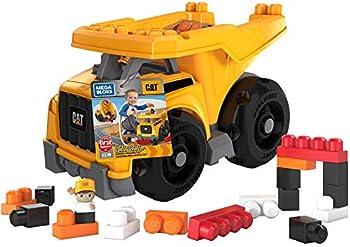 25-Pieces Mega Bloks CAT Large Dump Truck with Big Building Blocks
