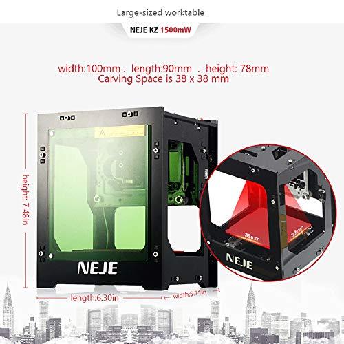 Máquina de Grabado laser,Ritioner 1500mW 405nm grabadora laser con USB,Mini DIY Grabador para Tallar Caoba,Bambú,Tarjetas de Papel etc