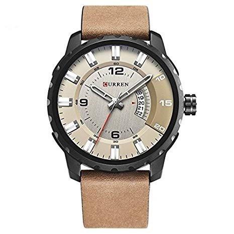 Herren Analog Quartz Uhr Männer Armbanduhr Großes Zifferblatt Herren Uhren mit Edelstahl Armband