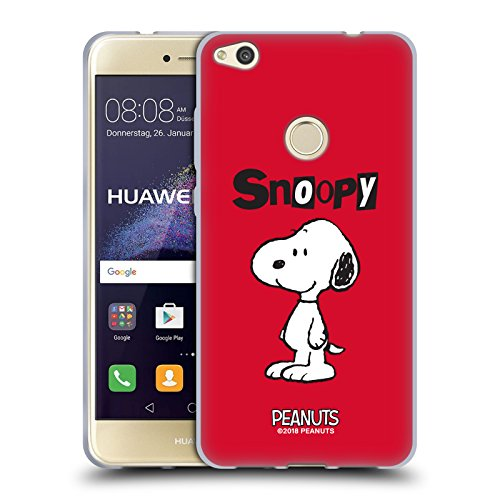 Official Peanuts Snoopy Characters Soft Gel Case Compatible for Huawei P8 Lite (2017)