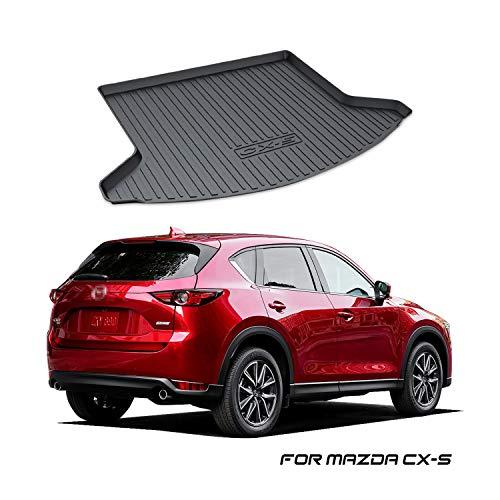 YEE PIN Kofferraummatte Gummi Kofferraumwanne für Mazda CX-5 2 SUV KF 2017-2019, Seitenschutz Gummimatte Laderaumschale Schutzmatte für Sicheren Transport von Gepäck, Rutschfester