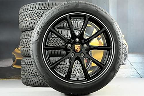 Compatible con Porsche Cayenne E3/9Y0 20 pulgadas, juego exclusivo de ruedas de invierno, color negro.