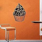 Pegatinas de pared pegatinas de arte y murales necesitamos pastel dulces café vitrina de comida rápida-80x122cm
