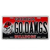 HangTime Georgia Bulldogs Logo GO DAWGS License Plate Wall Tag