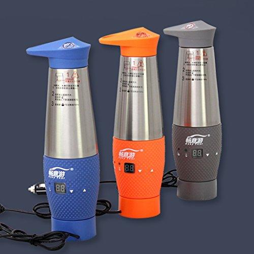 Tasse électrique de voiture, bouilloire électrique, tasse futée, pour des voitures de 12V, capacité de 348ML, acier inoxydable (Color : Blue)
