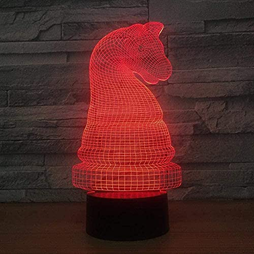 Lonfencr Arte escultura luces ajedrez USB carga escritorio lámpara inteligente 16 colores regalo cumpleaños USB cable táctil remoto
