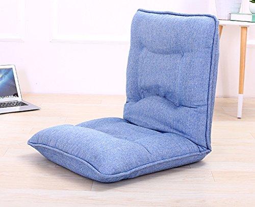 Lazy Sofa Fold Chair Chambre à coucher Living Room Fauteuil de loisirs -LI JING SHOP (Couleur : Blue-1)