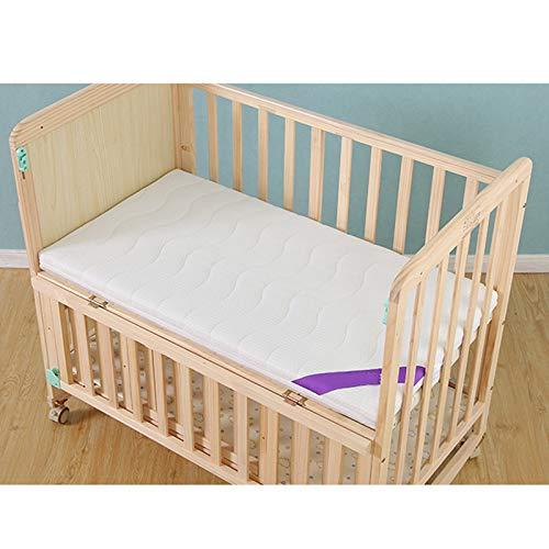 PYXZQW Colchon Cuna Impermeable, Colchón de Cuna y colchón de Cama para niños pequeños, la Funda de Tela es extraíble y Lavable, Lado Firme para bebé, 5D marrón Coco + látex,100 * 56cm