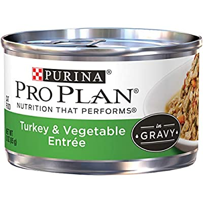 Purina Pro Plan Gravy Wet Cat Food, Turkey & Vegetable Entree - (24) 3 oz. Pull-Top Cans
