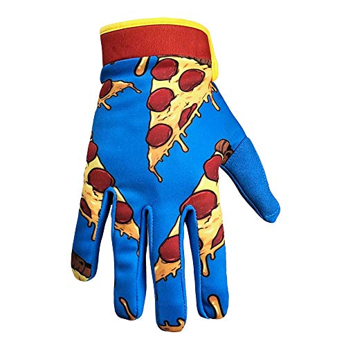 Saints of Speed Mountain Bike & Motorcycle Gloves (Large, Pizza)