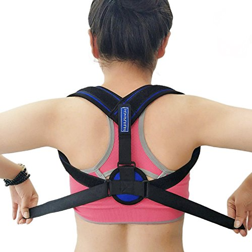 Mumu New Life Posture Corrector for Women and Men Back Adjustable Clavicle Brace Shoulder Posture Support Strap Outdoors Sports Shoulder Supports