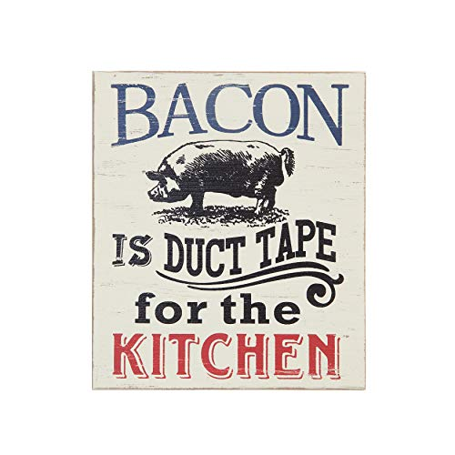Creative Co-op 6.5' L x 8' H Bacon is Duct Tape Block Decor