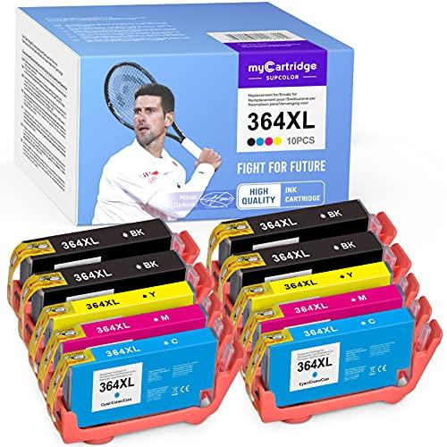 10 myCartridge SUPCOLOR 364XL 364 Compatible para HP 364XL 364 para HP OfficeJet 4620 4622 Photosmart 6520 5510 7510 5524 6510 5515 5520 C5380 Deskjet 3070A 3520 3524 3522