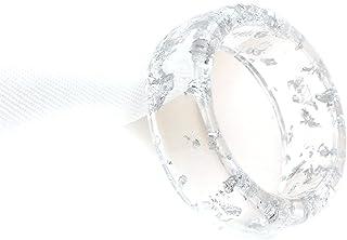 Larancie المفاصل خواتم شفافة الراتنج خاتم فويل حلقة مؤشر إصبع خاتم الأزياء خواتم مجوهرات للنساء والشوايات