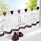 SIMPVALE 1 pezzi cotone lino Cafe corto tenda cucina tenda mantovana, 45cm(altezza)x90cm(larghezza)