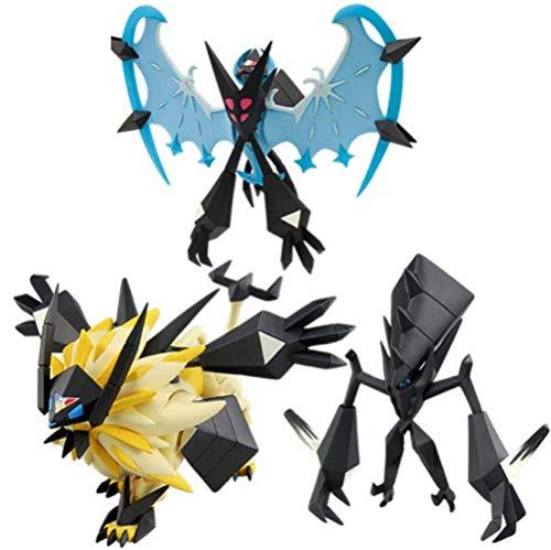 WYYHYPY 3 stücke Pokemon Sonne und mond solgaleo lunala necrozma Action Figure sammelbare Modell Spielzeug Anime Geschenke für Kinder Pikachu Plüsch