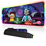 Beymemat RGB Gaming Mouse Pad, Professional Non-Slip Rubber Base Led Large Mouse Pad for PC, Laptop, Desk, 31.5×11.8 in (80x30 fgdinner06)