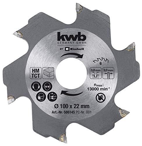 kwb by Einhell 49758941 Accesorios de fresadora de tacos planos