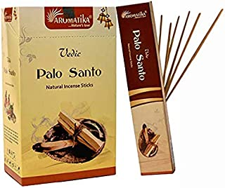Aromatika vedic Palo Santo natural masala incense sticks pack of 180 gm (15 gm x 12 box)   get real fragrance of palo santo   hand rolled in India