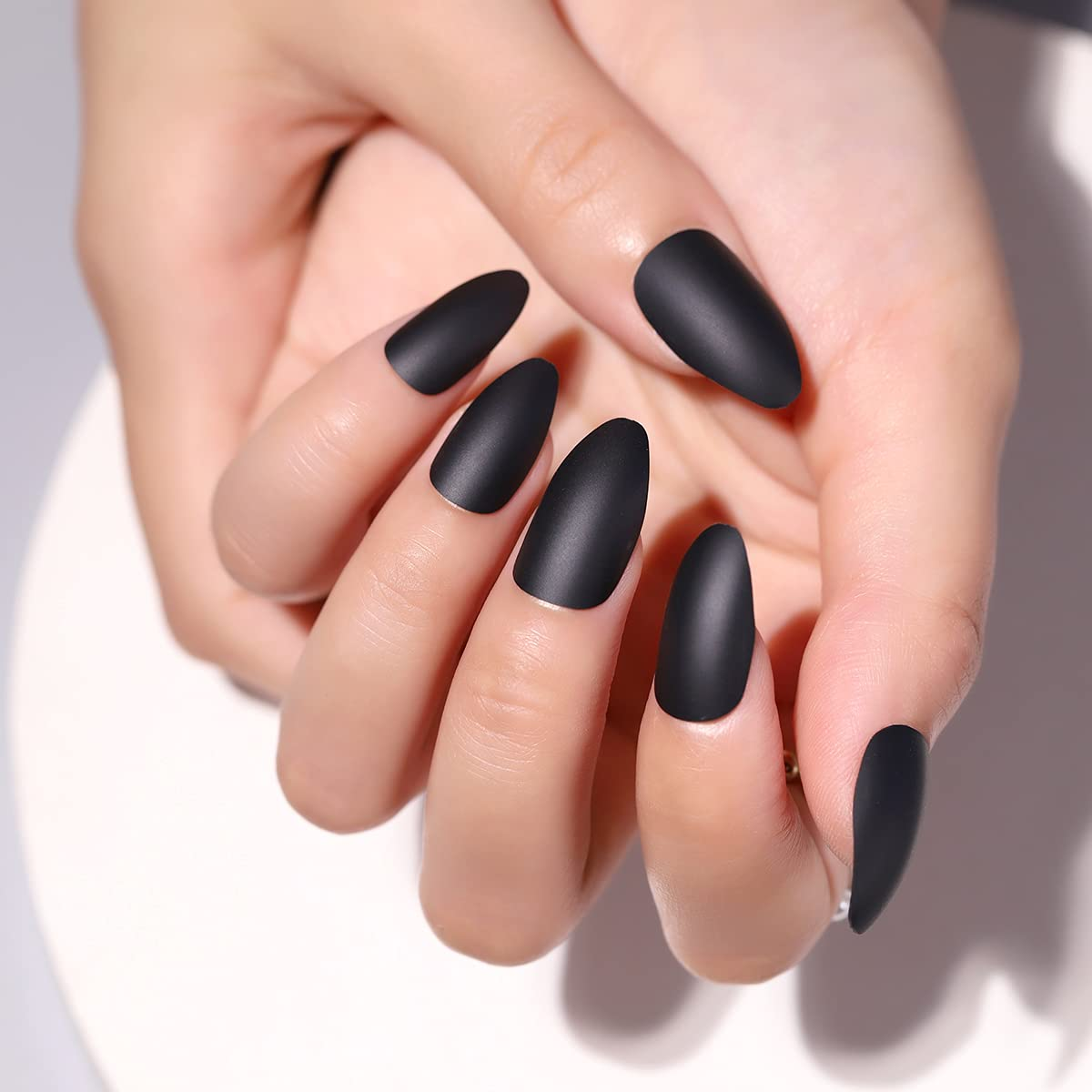 Houston Mall Matte Press on Nails Stiletto False Cove Long Shipping included Full Acrylic