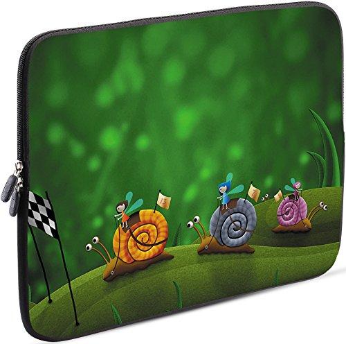 Sidorenko Laptop Tasche für 17-17,3 Zoll - Universal Notebooktasche Schutzhülle - Laptoptasche aus Neopren, PC Computer Hülle Sleeve Case Etui, Grün