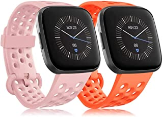RIOROO kompatybilny z paskiem Fitbit Versa / pasek Versa 2 / pasek Versa Lite, zamiennik sportowy pasek dla kobiet mężczyz...