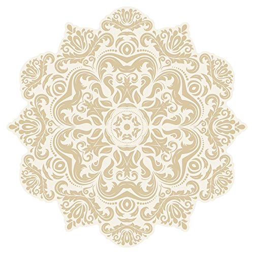 Wandtattoo Mandala Motiv mit Ornamenten Wandsticker Wanddeko Wohnzimmer Deko