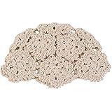 RROVE Sombrero de algodón de Ganchillo Hecho a Mano Vintage para Mujer Verano otoño Ahuecado Floral de Punto Color sólido Estilo literario Gorro Calavera
