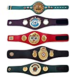 House of Highland 77 WBC WBA WBO IBF IBO - Cinturón de Boxeo para Adultos, 5 Cinturones