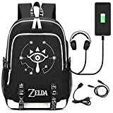 GO2COSY Luminous The Legend of Zelda Backpack Daypack Student Bag School Bag Bookbag Rucksack Pack with USB Charging Port