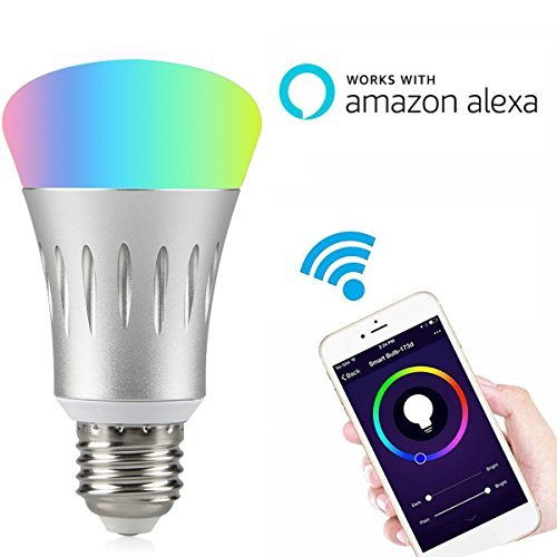 wifi smart led light bulb compatible alexa, iphone, and android
