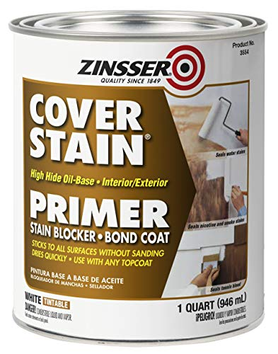 Rust-Oleum 3554 Zinsser High Hide Cover Stain Primer and Sealer, White