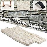 Gyubay Molde de pavimento Textura de la Pizarra hormigón de Cemento de Piedra Pared de Ladrillos de Cemento del Molde Puede ser reutilizado para pavimento de jardín (Color : Blanco, Size : One Size)