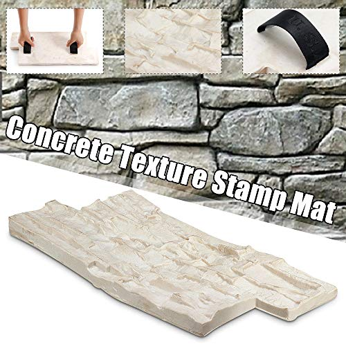 Path Maker Mold Path Shape Slate Texture Concrete Cement Stone Wall Cement Brick Mold kan worden hergebruikt Sjabloon Betonvorm (Color : White, Size : One size)