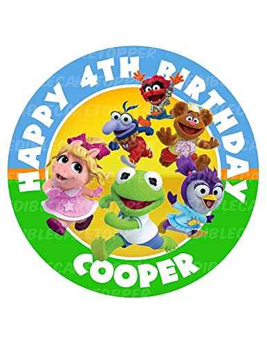 """Muppet Babies Round Personalized Edible Cake Image Cake Topper Decoration - 6"""" Inches Circle"""