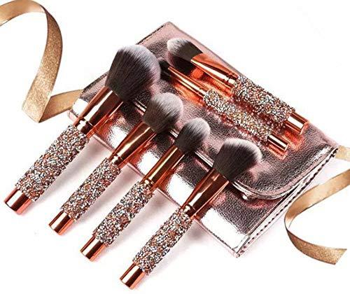 LEDADIE Make-up borstel Hot Sale 10 stks/set Goud Diamond LEDADIE Borstels Set Foundation Blending Poeder Eye Gezicht Borstel met Tas LEDADIE Tool Kit maquillaje Geel