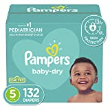 Diapers Size 5, 132 Count - Pampers Baby Dry...