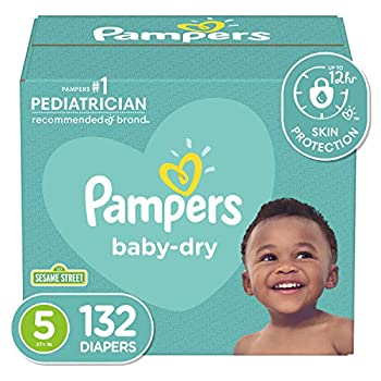 Diapers Size 5 132 Count - Pampers Baby Dry Disposable Baby Diapers Enormous Pack