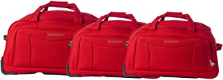 Giordano Luggage Trolley Bags Set of 3 Pcs, Red, 25-411