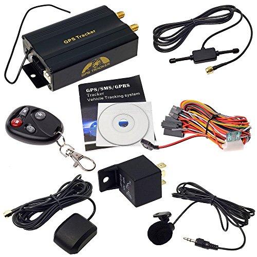 ShopWeb-Modelo TK103B - Vehículo con auto localizador GPS, rastreador, con control remoto, SMS, Google Maps, conexión VG2 - Incluye mando a distancia