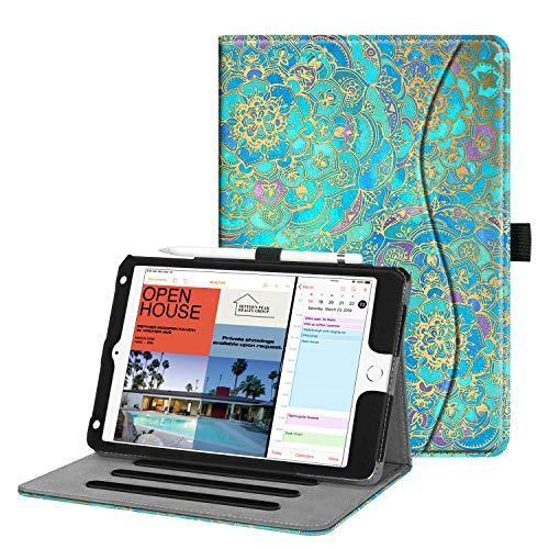 Fintie Hülle für iPad Mini 5 2019 / iPad Mini 4 - [Eckenschutz] Multi-Winkel Betrachtung Folio Stand Schutzhülle mit Dokumentschlitze, Auto Schlaf/Wach für iPad Mini (5. / 4. Generation), Jade